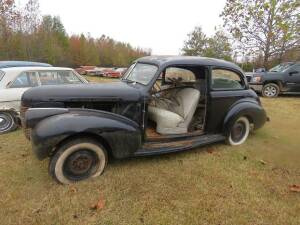 1940 Chevy 2 Door ( doors are included, but were absent for photo) Has Title, front bumper inside car, headlights and other parts at warehouse, motor did run