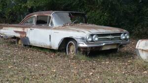 1960 Chevrolet Biscayne ( pick up at 320 S. Rose, Houston, Arkansas) NO TITLE ! You will be responsible for loading, no loader on site.