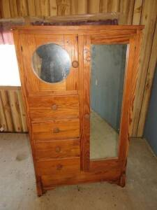 Small Wooden Wardrobe
