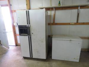 Kenmore SXS Refrigerator and small chest freezer