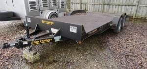2010 - 18' Rice Magnum Series Trailer ( very nice, like new !) electric brakes, ramps