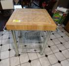 "Chopping block kitchen island - 26""w x 26""d x 35""h"