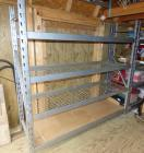 "4 tier metal shelf 6"" W X 6'H"