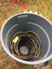 200 ft of Apex heavy duty hose & Rubbermaid Brute trash can
