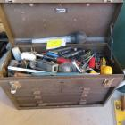 Tool Box with Misc. Tools in Top Lid