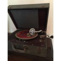 Vintage Waters Palmer Phonola Hand Crank Portable Phonograph- WORKS!