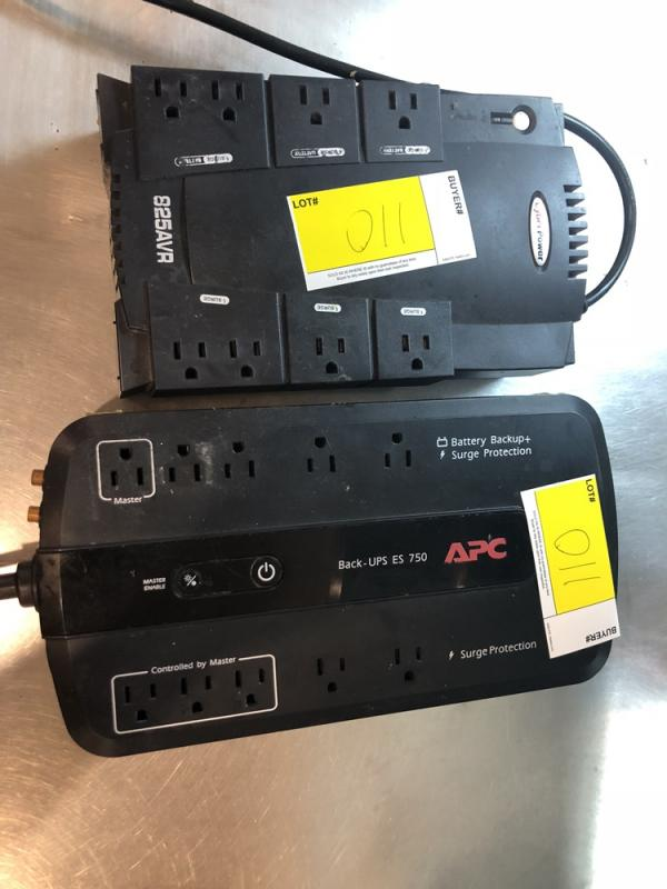 2 CyberPower Battery Backup Electric Power Strips (Models 850VA