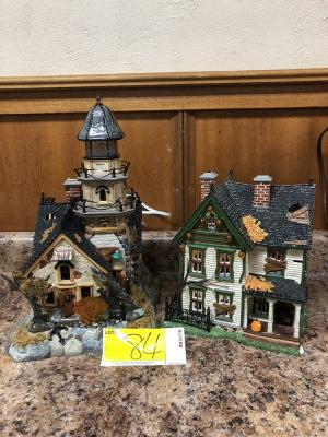 lot 84 of 364 2 department 56 halloween houses
