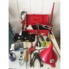 Toolbox & Prosnip Wire Snips, Craftsman Wire Cutters, Gardenline Hand Shears, Globemasters Level, Funnels, & More!