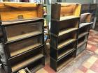 Oak Barristers Bookcases or Lawyer Bookcases, The Globe-Wernicke Co Sectional Bookcase Made In Cincinnati. Standard C-11 Unit Pattern 111- Grade 798 1/2 - Various Pieces