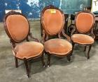 3 Victorian Parlor Chairs