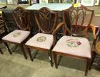 Duncan Phyfe dining chairs with beautiful needle point bottoms