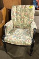 Vintage upholstered library chair