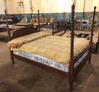 Antique Country Style Four Post Spindle/Spool Bed.(80 in L)X(45 in H)X (56 in D)