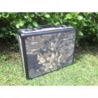 "Combination Lock Aluminum Camo Case- 17"" x 6"" x 13""- Padded Inside"