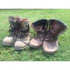 2 Pairs of Men's Boots- Size 11- Black Rock Leather & Thinsulate Work Boots + Goretex Thinsulate Hunting Boots