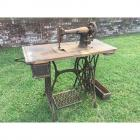 Antique Singer Treedle Sewing Machine on Cast Iron Singer Base