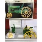 John Deere Model A Tractor with Historical Book & Collector's Coin- 1/16 Die-Cast Metal- Precision Classics