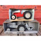 ERTL 1939 Ford 9N Tractor with 2 Bottom Plow 50th Anniversary 1/16 Scale &  ERTL Ford 8N 1/16 Scale Model