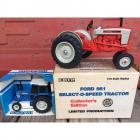2 ERTL Die-Cast Metal Scale Models- Ford 7710 Pow-R-Pull 1/32 Scale & ERTL Ford 981 1/16 Scale Replica Collector's Edition Limited Production Select-O-Speed Tractor