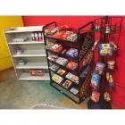 3 Shelves Containing Play Food- see description