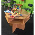 "Wooden Hexagon Play Table (26L x 23""W) & Melissa & Doug Tabletop Bead Maze"