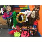 Assortment of Dress-Up Clothes, Large Squirt Guns, Cute Character Hangers, Wreath, & Accessories