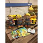 Bob the Builder Books & Dolls w/ 2 Big Dump Trucks