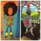 2 Photo-Op Painted Plywood Standees- Groovy Girl & Knight