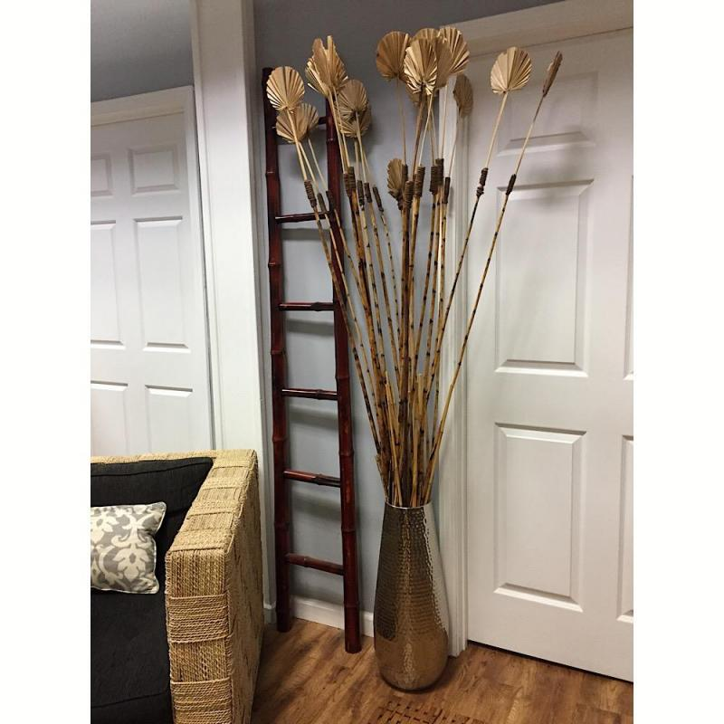 Silver Vase W 80 Decorative Bamboo Bamboo Ladder