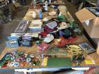 Hospital Bed, Tractor Button Collection, Hats, Misc. Glassware, Records, Silverware, Water Jugs, Games, Case of New Under pads, Pictures, & Tons of Misc.(Tables & Saw Horses DO NOT go)