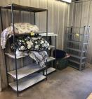 3 Metal Shelves & Blankets